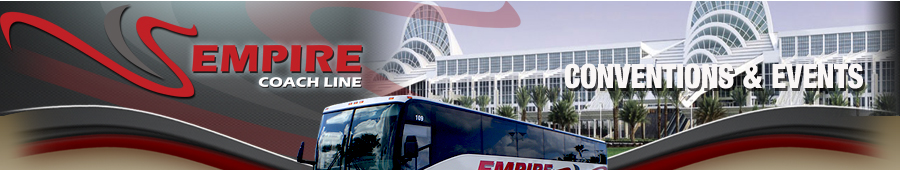 Empire Coach Line | Conventions & Events